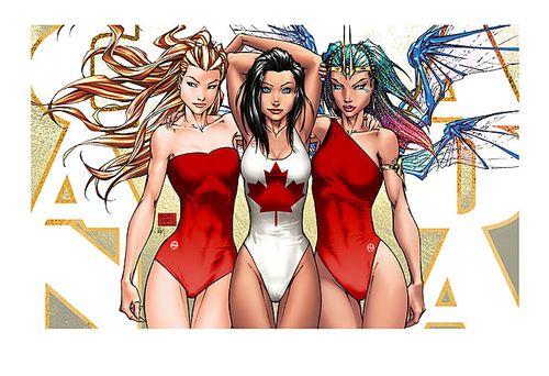 Canada beach babes