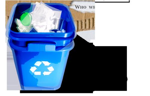 little blue bin